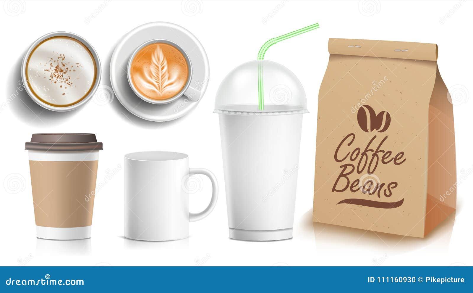 Coffee Packaging Template Design Vector White Coffee Mug