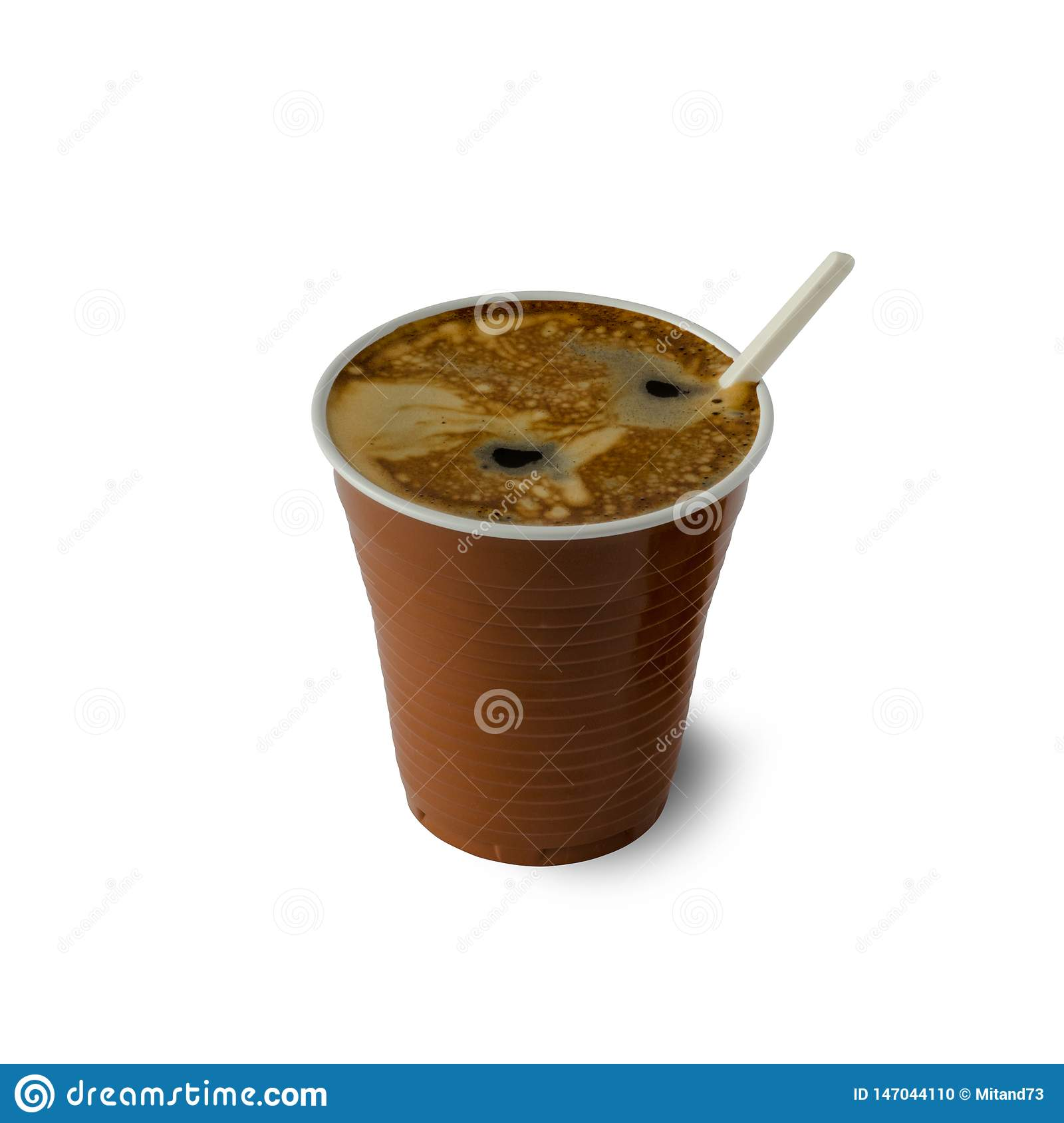 Coffee in a plastic Cup