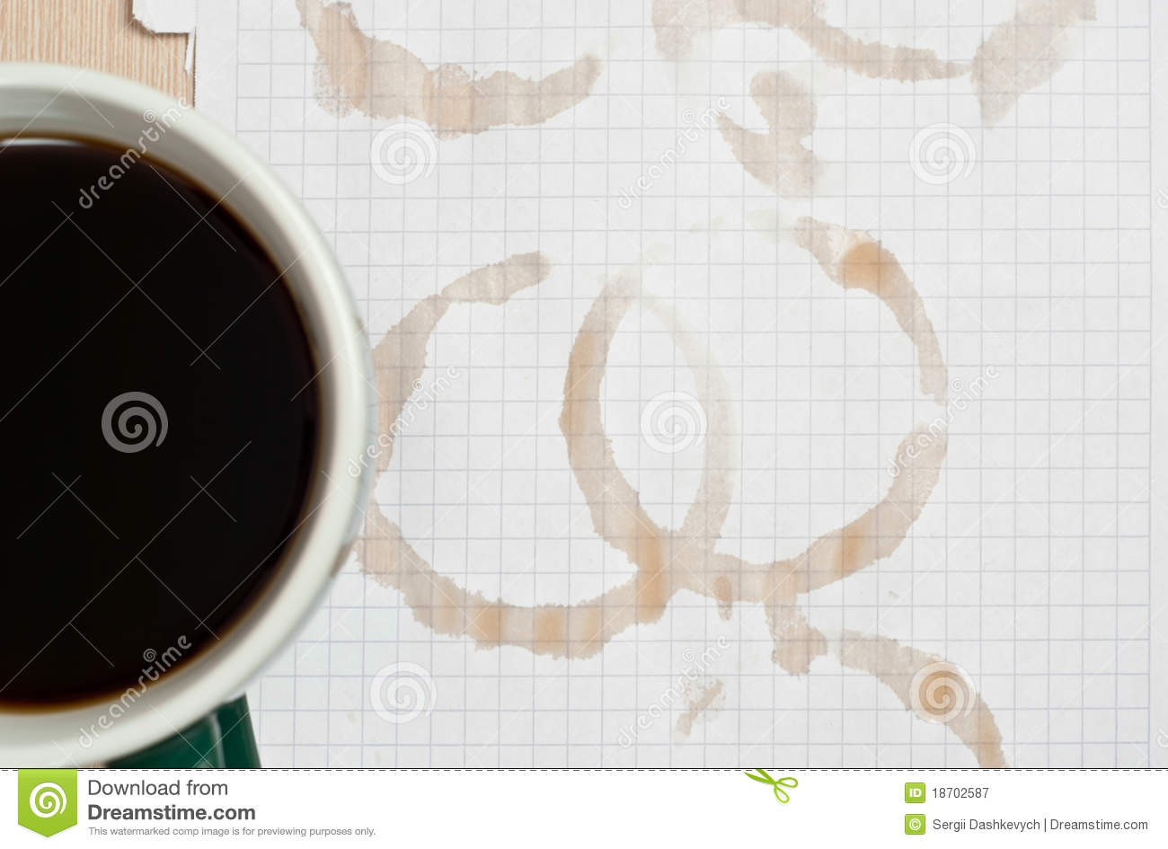 Coffee Rings Royalty Free Stock Photography - Image: 18702587