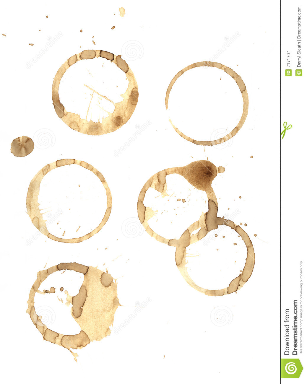 Coffee Rings And Splatter Royalty Free Stock Photography ...