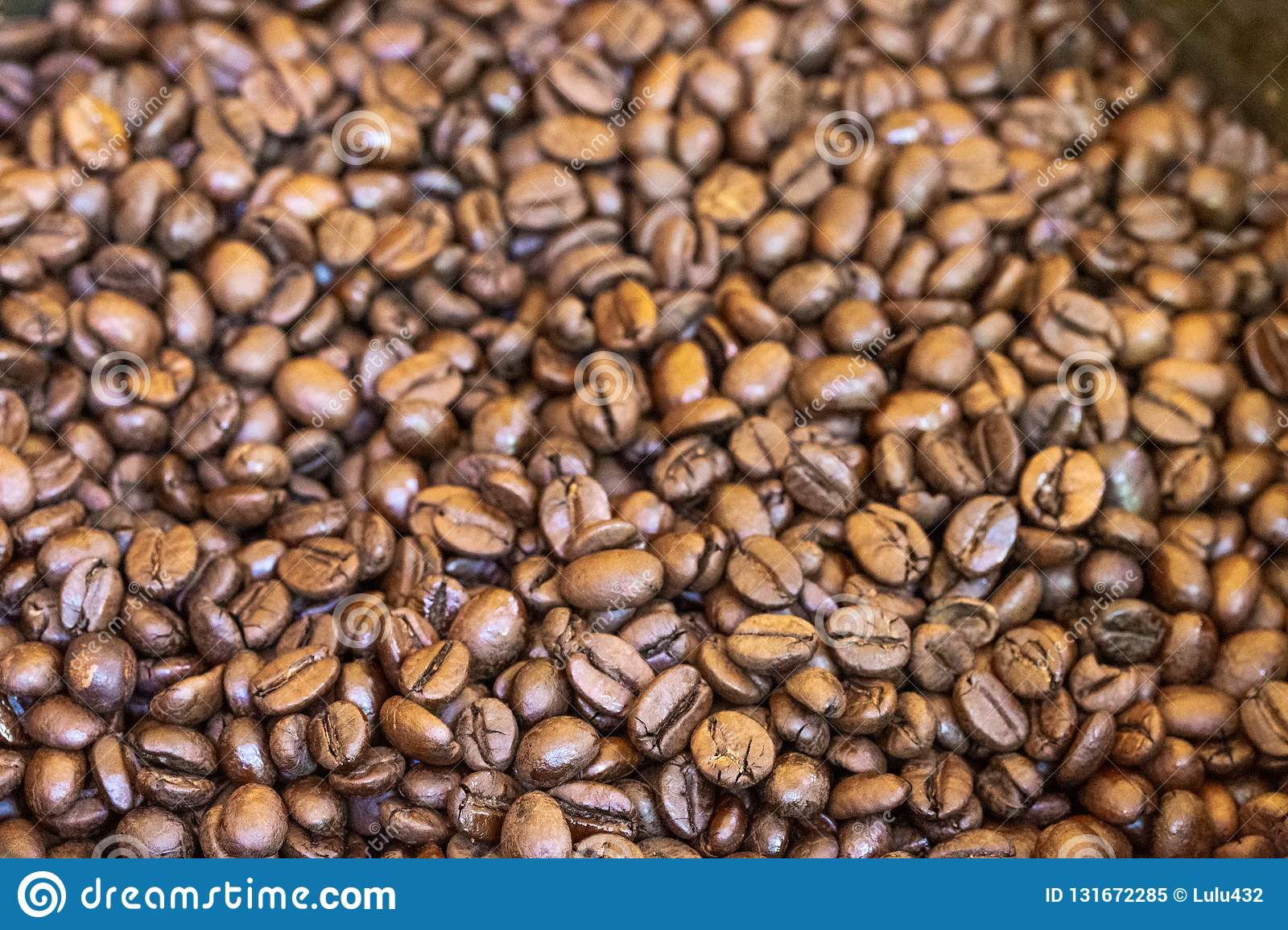 Coffee roasted beans of madagscar
