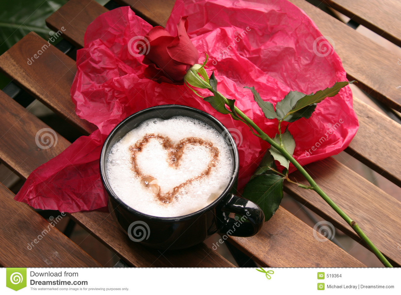 Coffee and roses stock photo. Image of foam, latte, moments - 519364