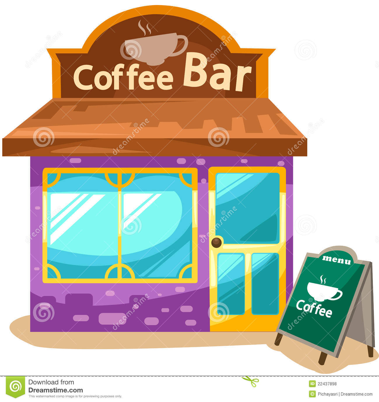 Coffee Shop Clip Art Coffee shop