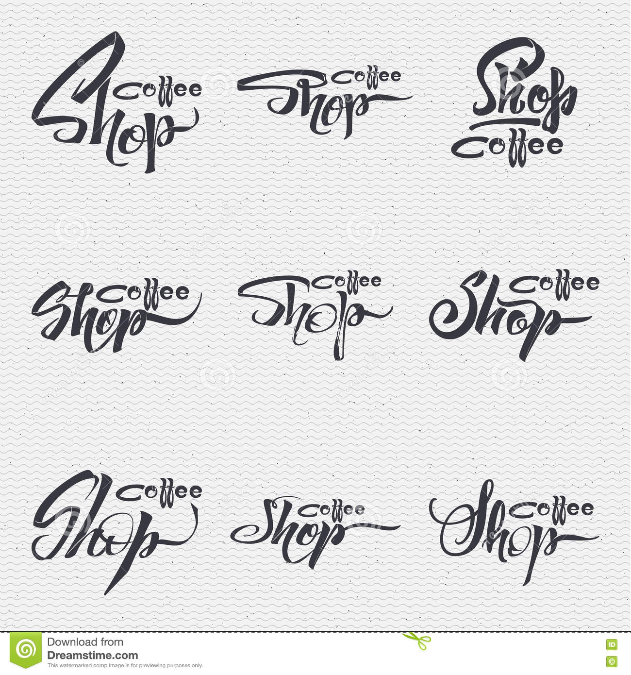 Coffee shop badge signboard can be used to design Calligraphy store