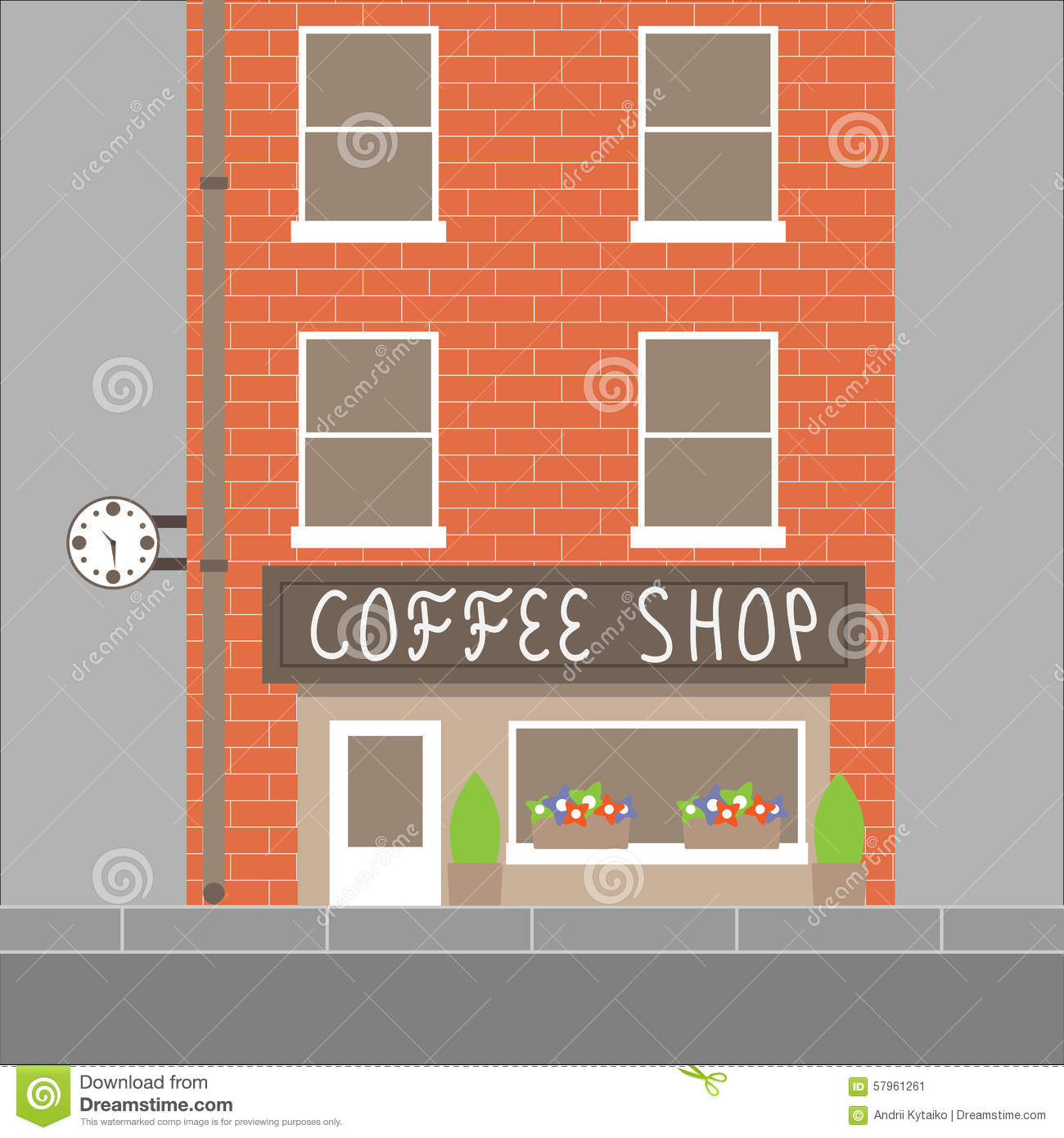 Coffee Shop Building Illustration 57961261