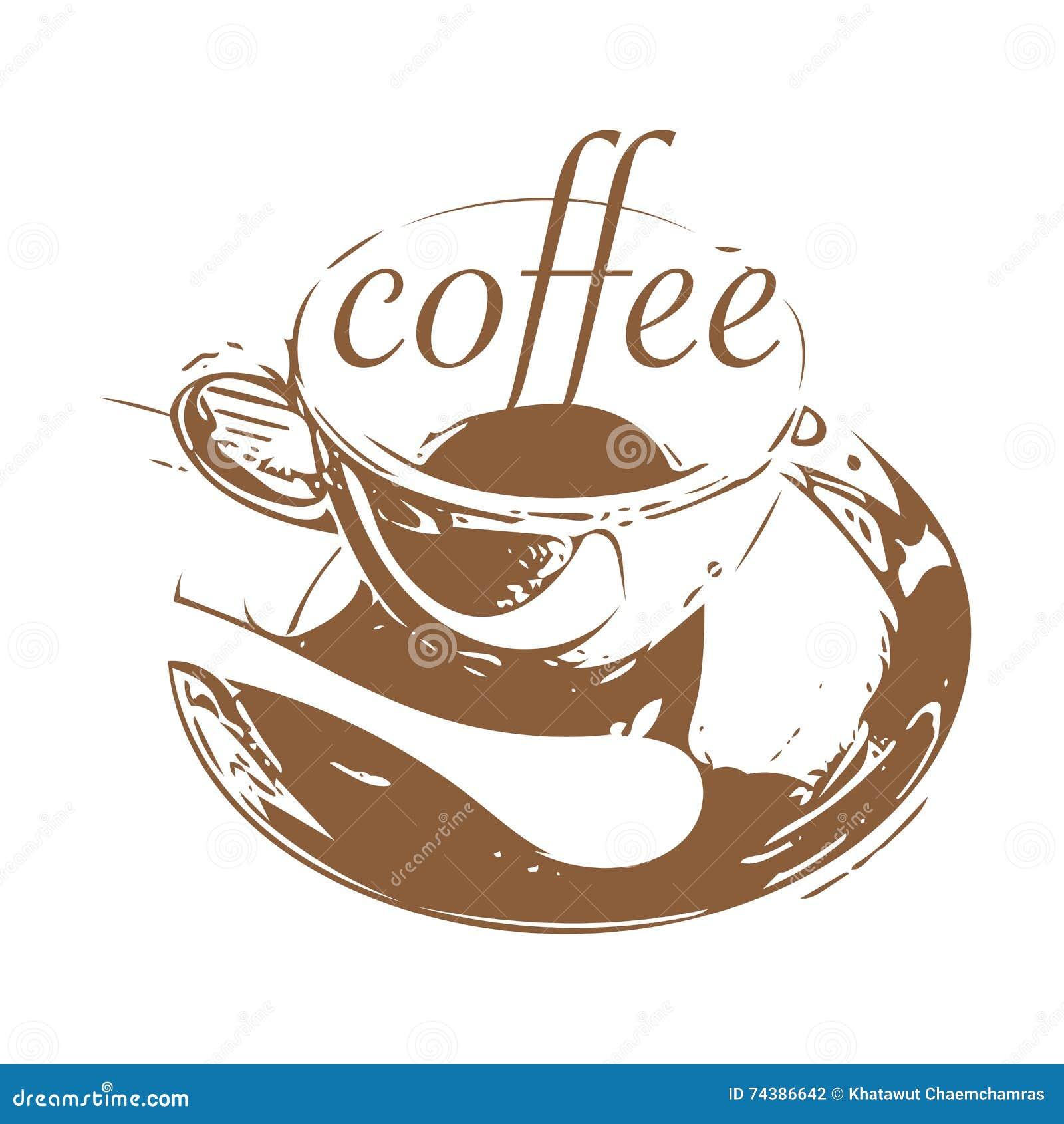 Coffee Shop Logo Design Stock Vector Illustration Of Drink 74386642