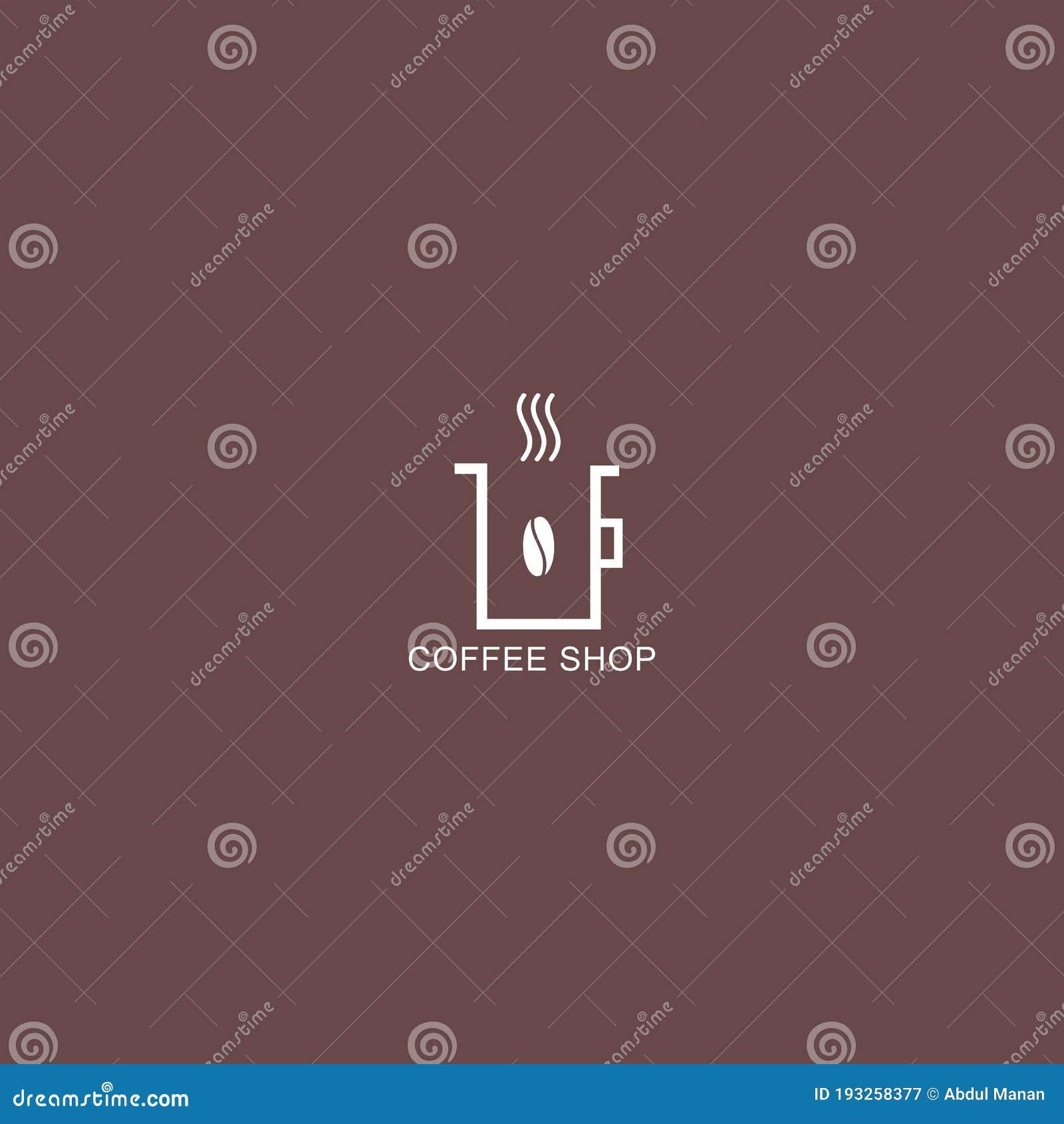 Coffee Shop Logo Simple Natural Home Logo Design Cafe Or Restaurant Logo Coffee And Tea Shop Stock Vector Illustration Of Cafe Company 193258377
