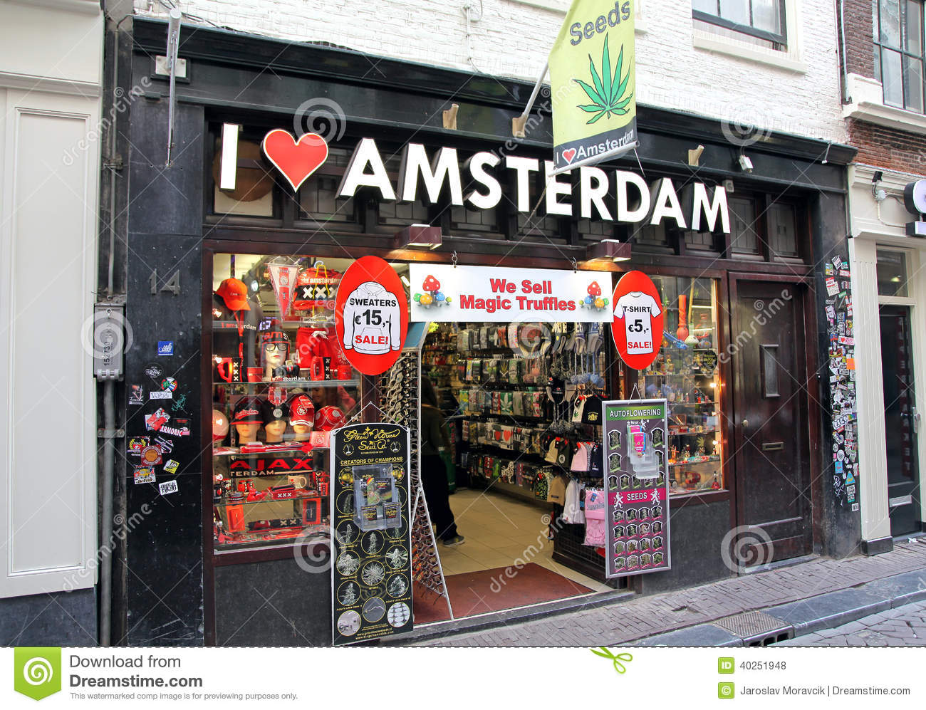 Coffee Shop In Red Light District At Amsterdam, Netherlands Editorial Stock Photo   Image  40251948