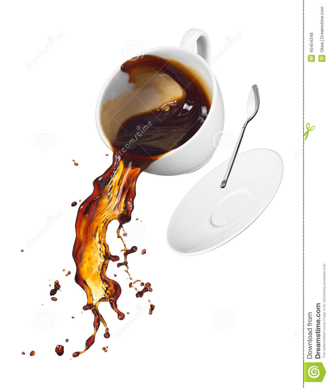 Coffee Spilling Stock Photo Image 40454348