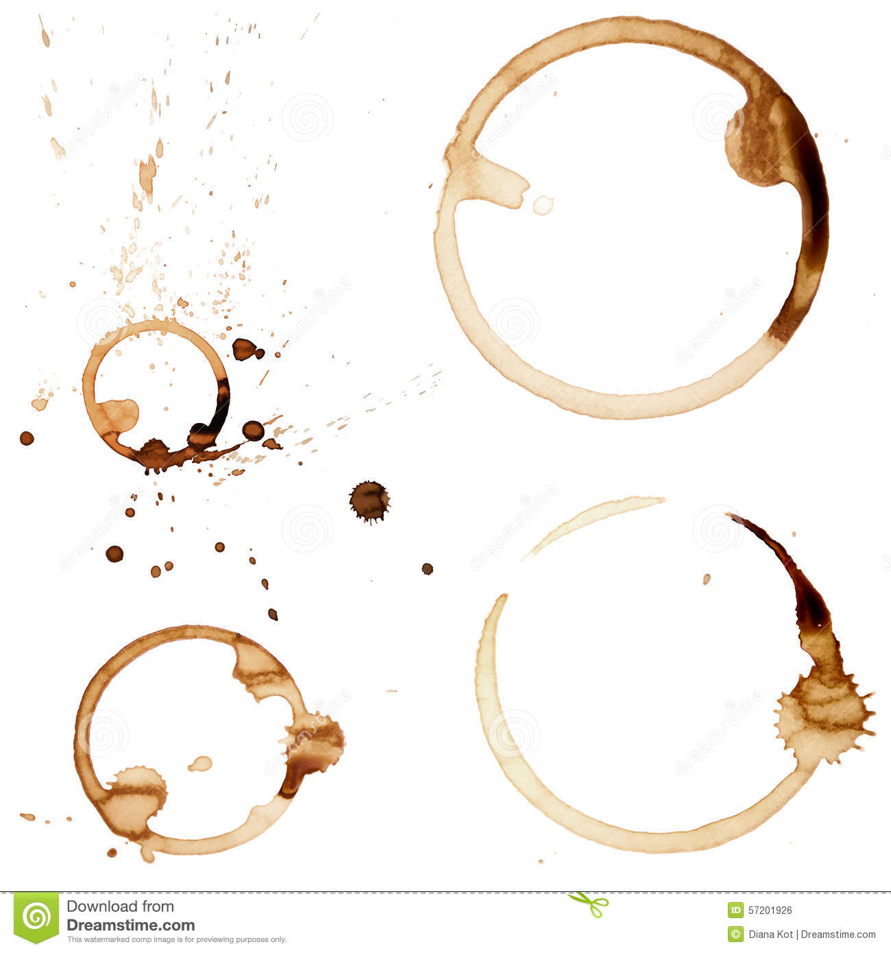 Coffee Stain Rings Vector Stock Vector - Image: 57201926