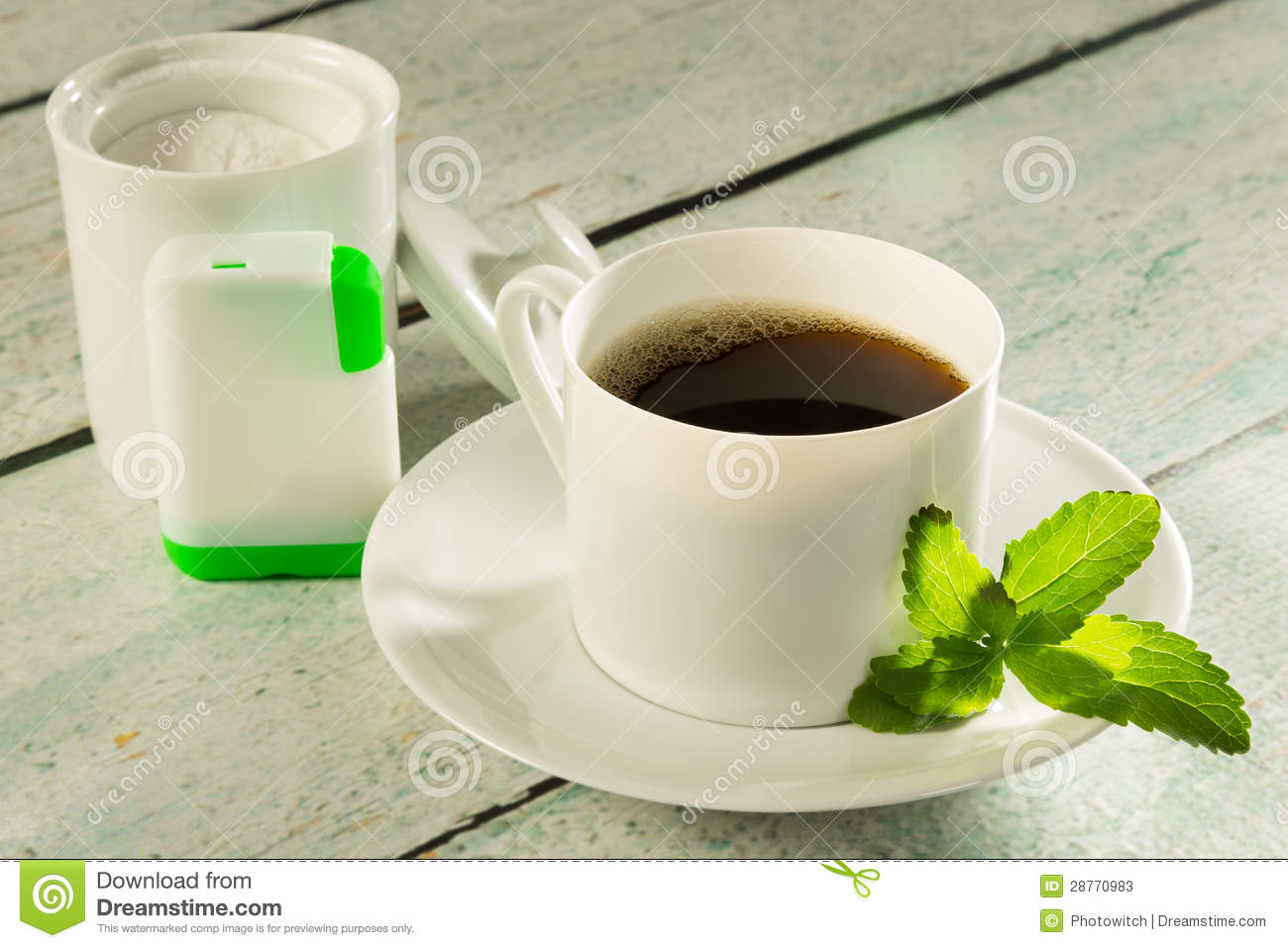 Coffee With Stevia Sweetener Stock Photos Image 28770983