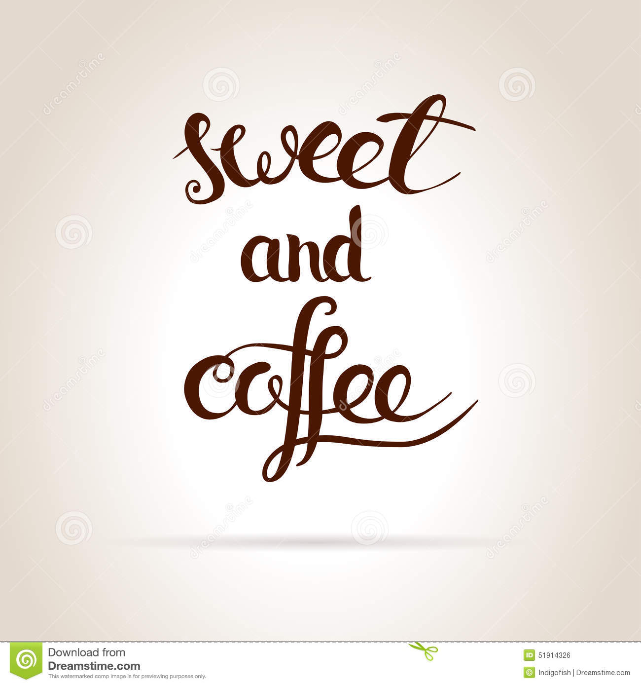 Coffee and sweet stock vector image