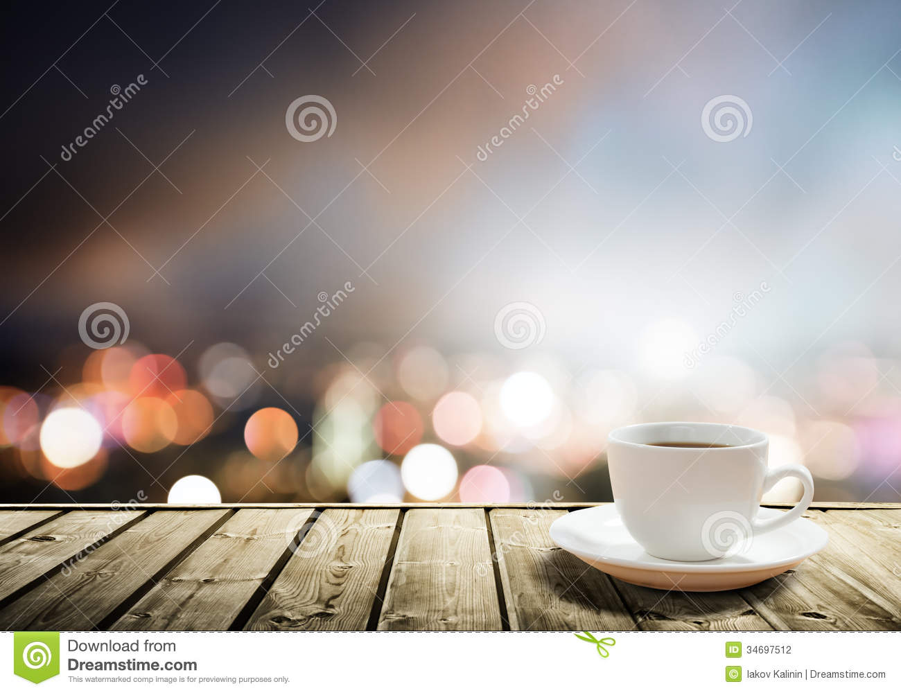 coffee on table stock photo - image: 34885100