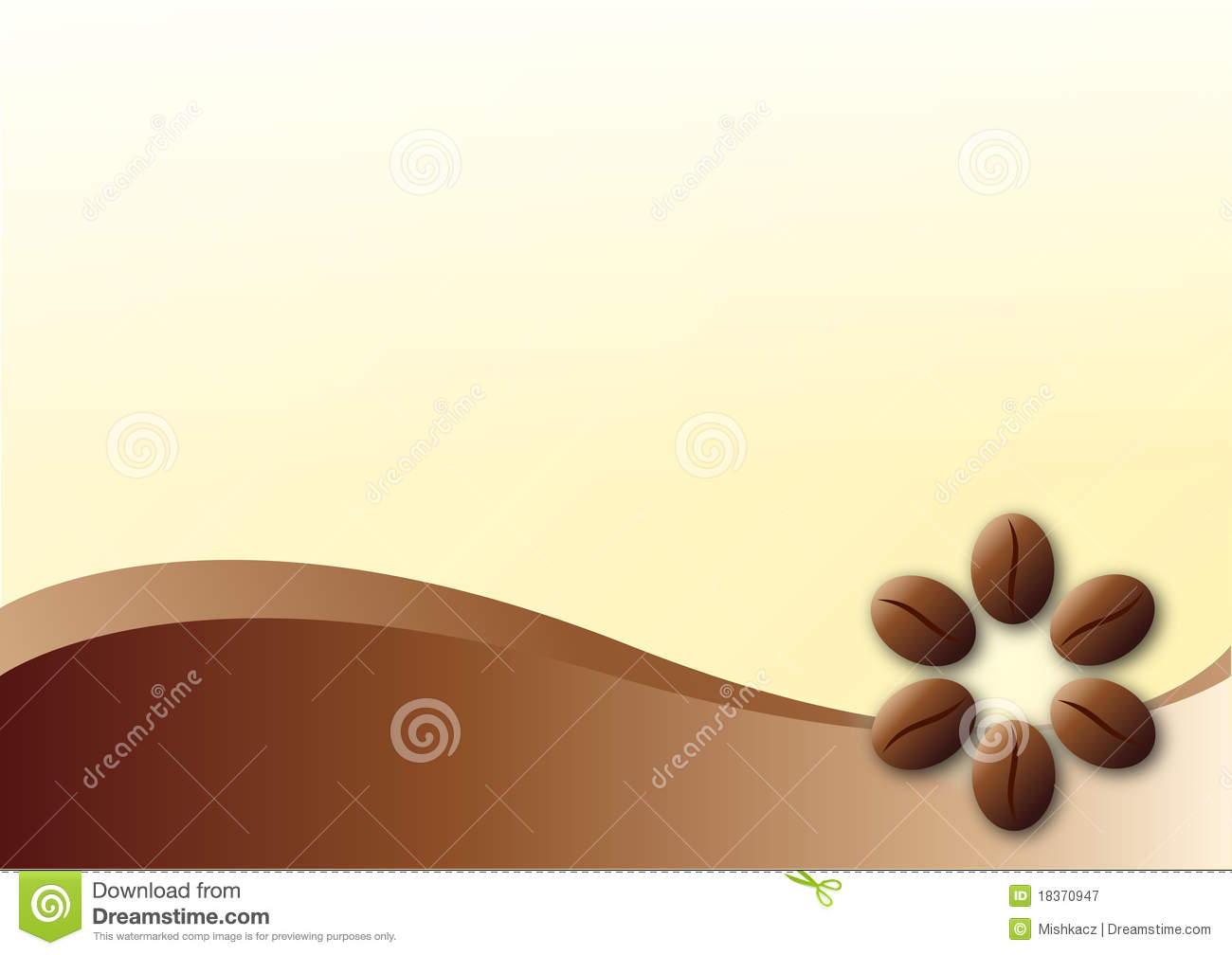 Coffee template background