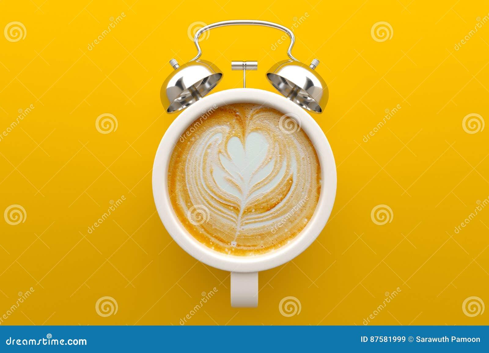 Coffee time concept, Latte art.