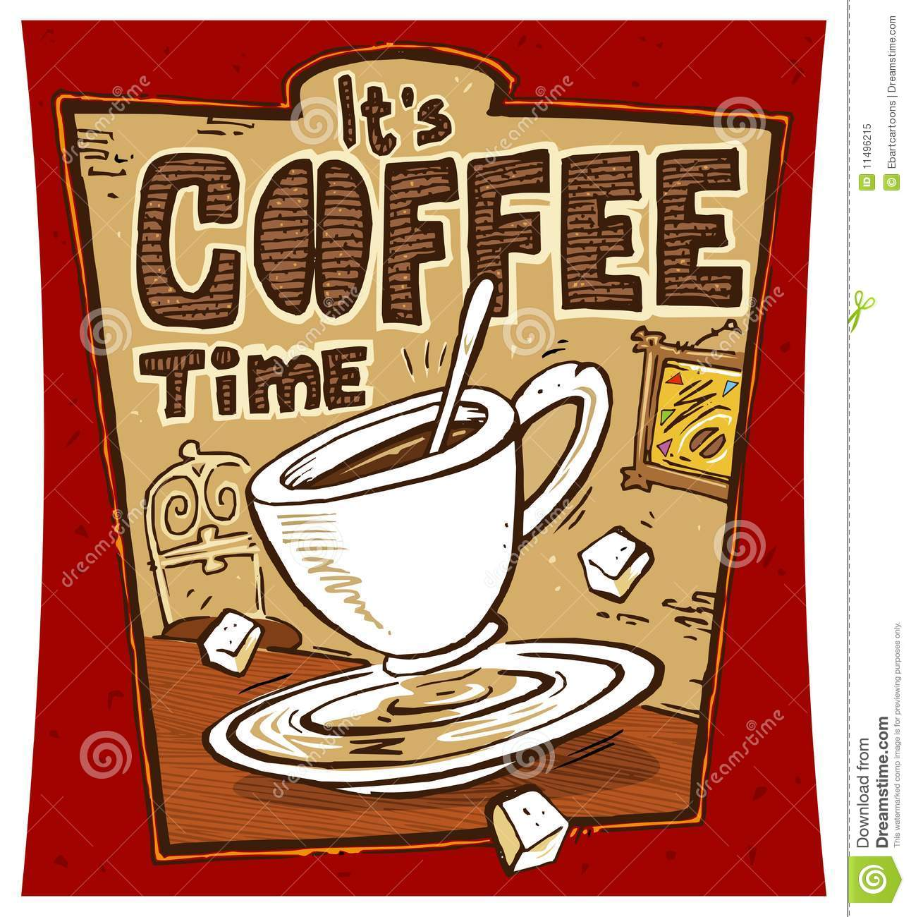 coffee time poster stock illustration image of restaurant coffee cup clipart love coffee cup clipart etsy