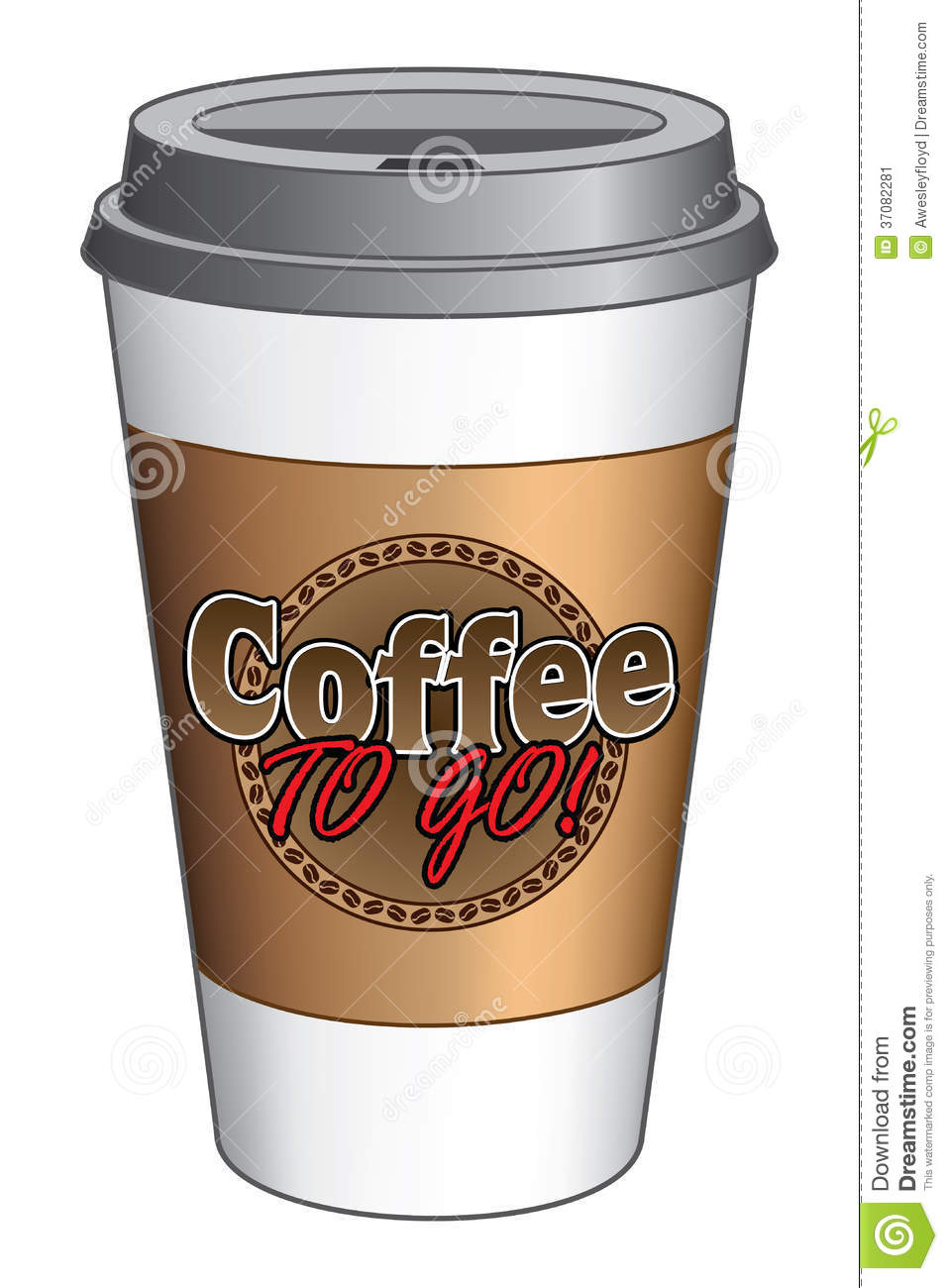 coffee to go cup stock image image 37082281. Black Bedroom Furniture Sets. Home Design Ideas