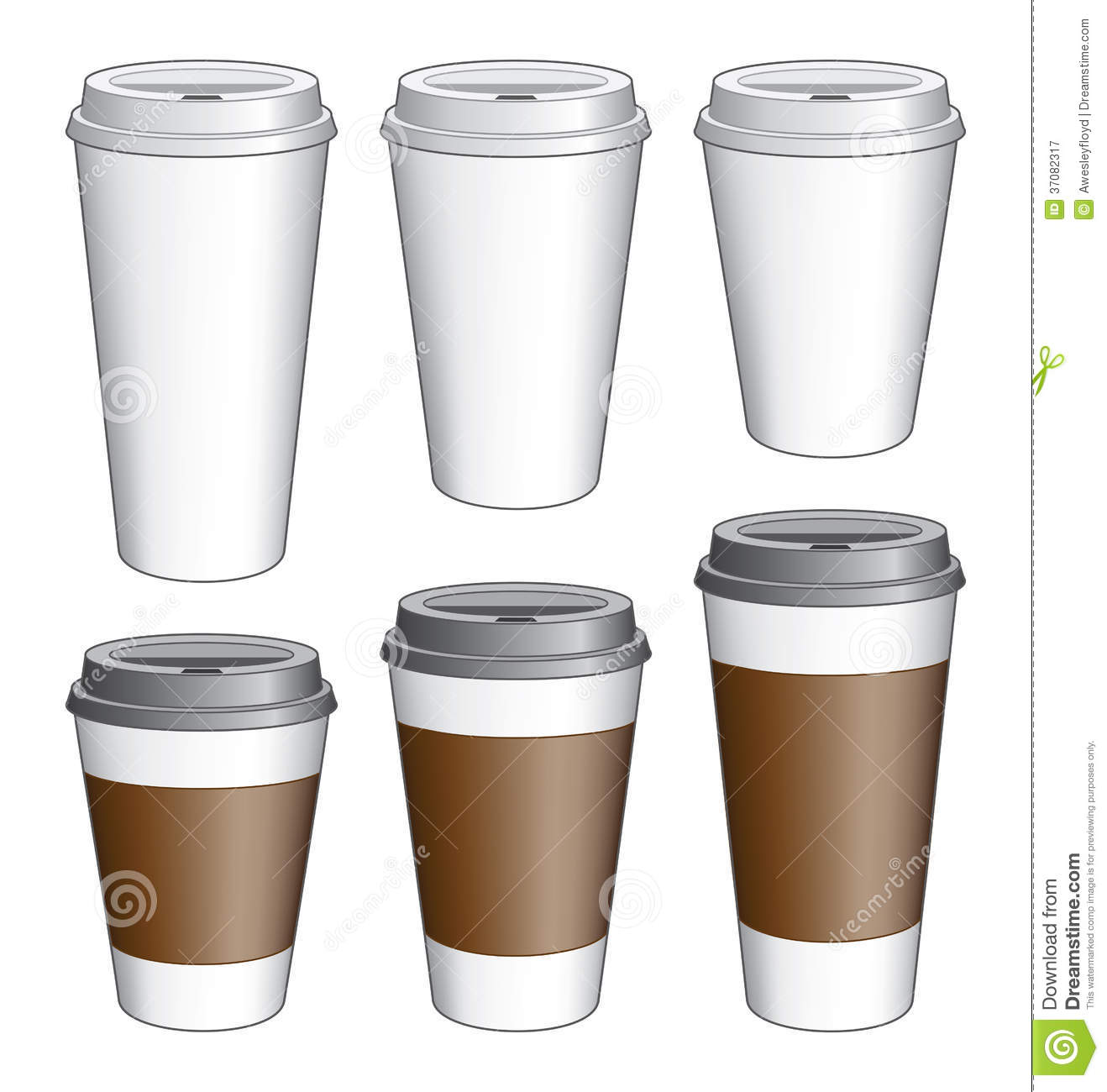 coffee to go cups royalty free stock photography image 37082317. Black Bedroom Furniture Sets. Home Design Ideas