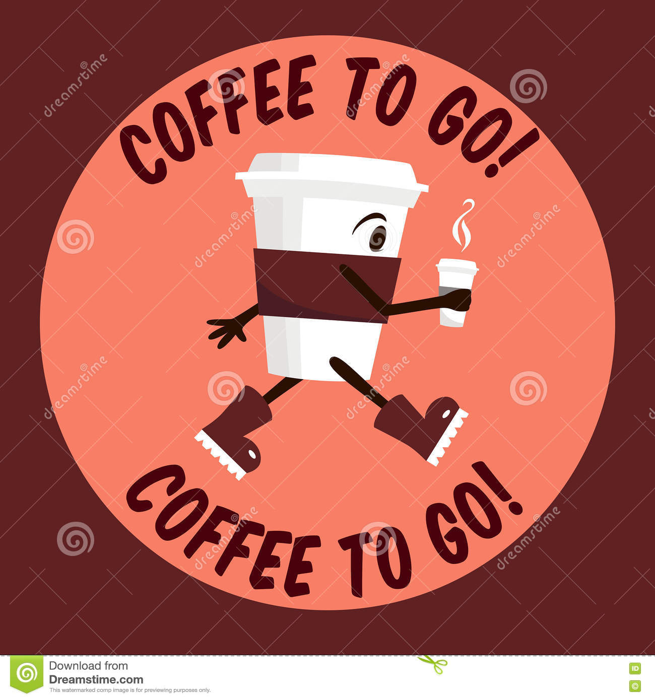 Coffee to go stock vector image 71612624 for Coffee to go