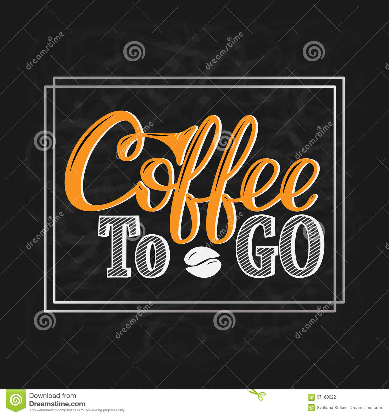 coffee to go hand drawn lettering for prints posters menu design