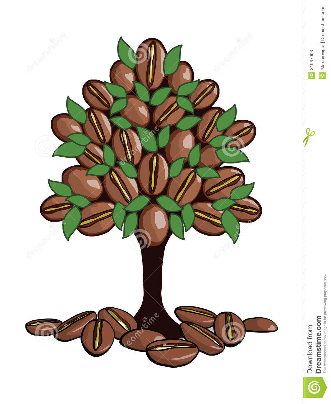 The coffee tree stock illustration. Illustration of badge ...