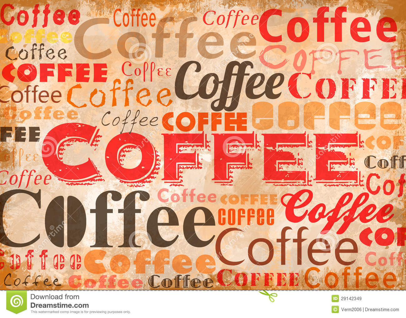 Collage Designs Coffee Typo Collage Royalty Free Stock Images Image