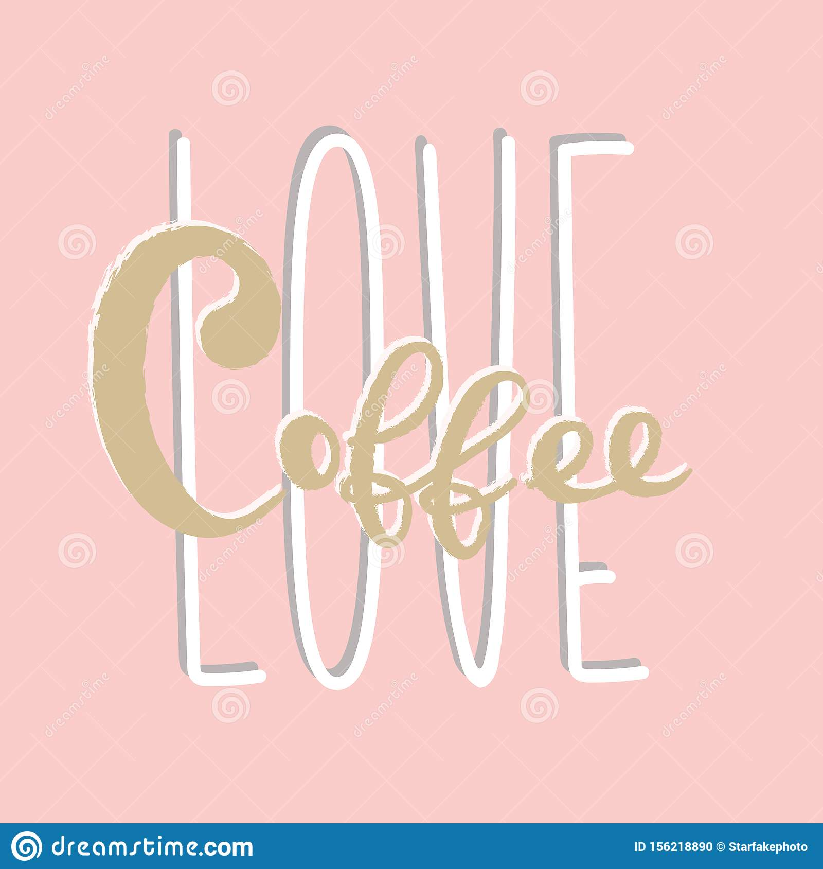 Coffee Typography Lettering Sign Logo Design Template Stock Vector Illustration Of Caffeine Cute 156218890