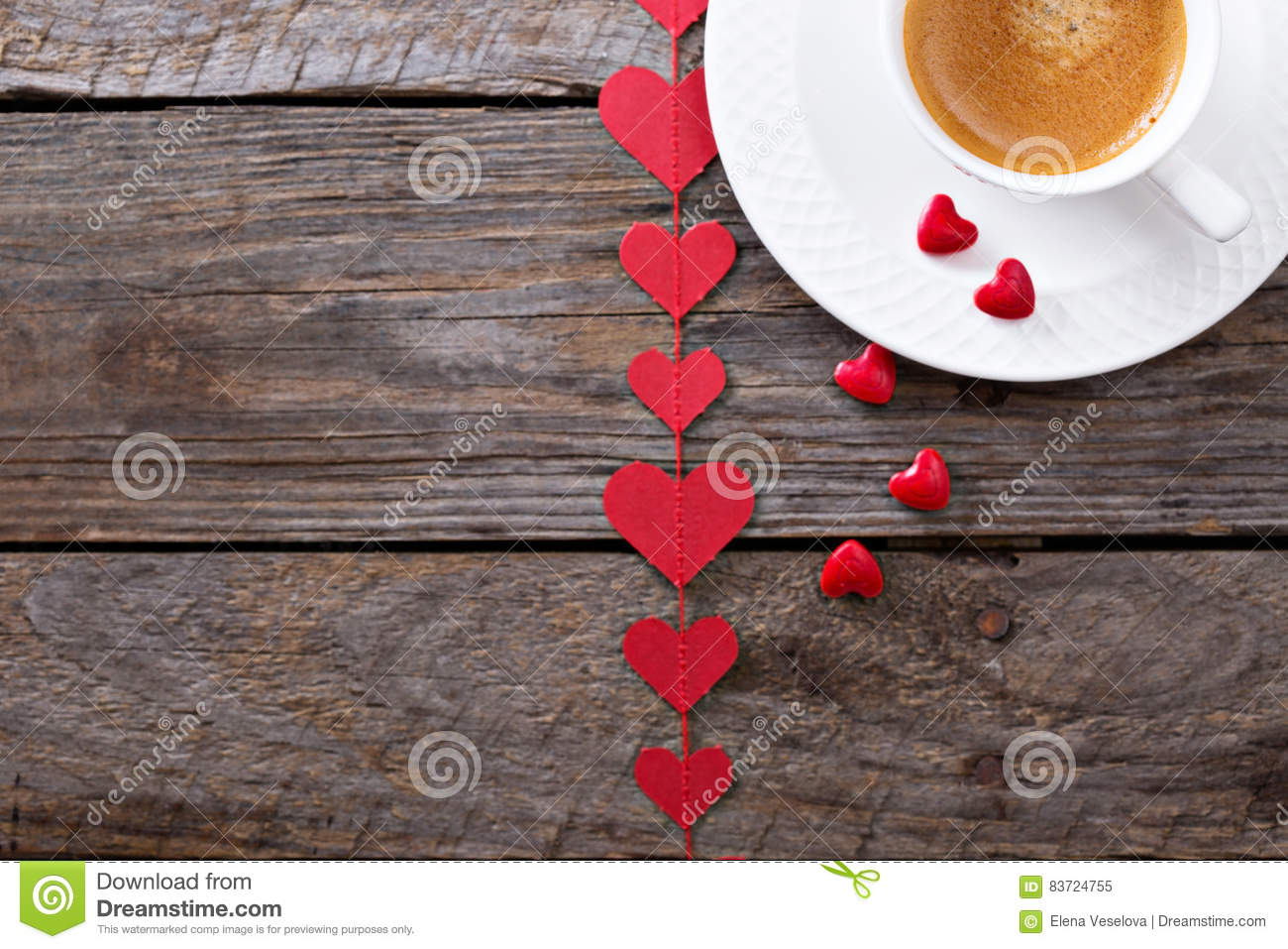 Coffee For Valentines Day Stock Photo
