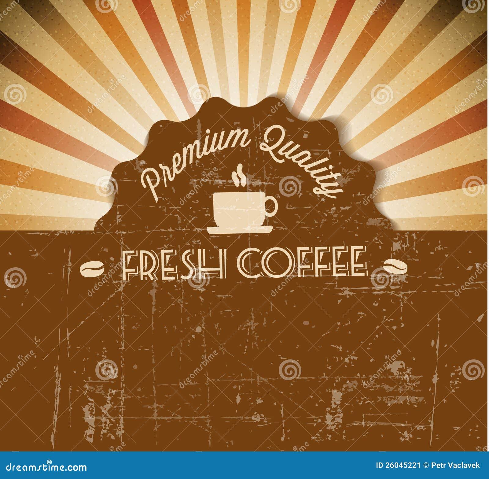 coffee vector grunge retro vintage label stock vector