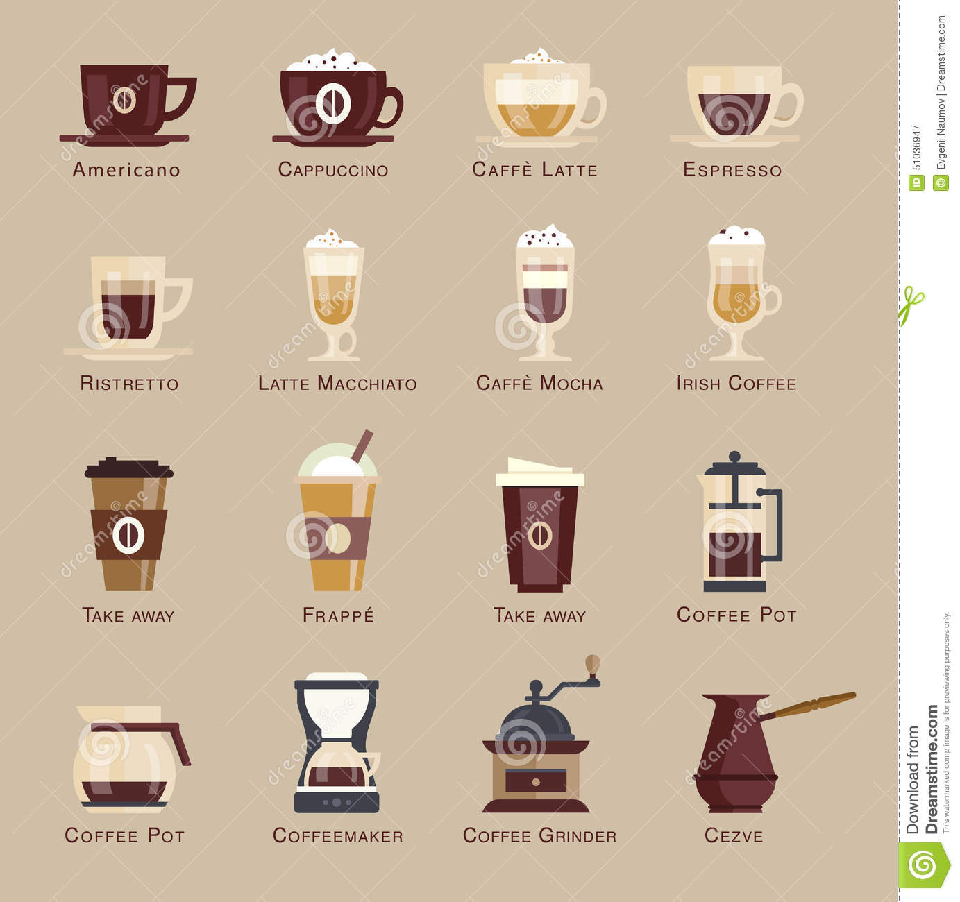 list of coffee drinks and how to make them
