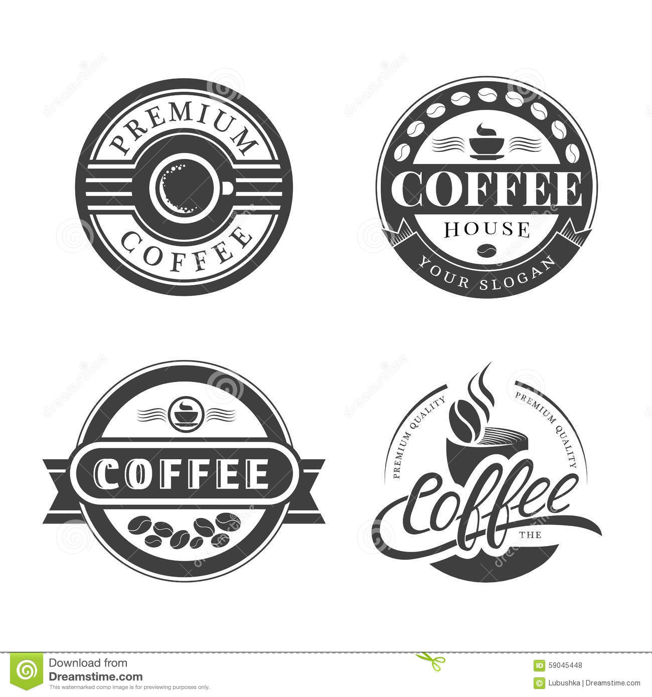 coffee vintage logo stock vector illustration of high 59045448. Black Bedroom Furniture Sets. Home Design Ideas