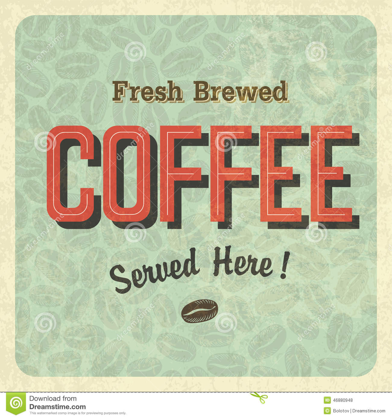 Coffee Posters Retro ~ Coffee vintage poster vector stock illustration