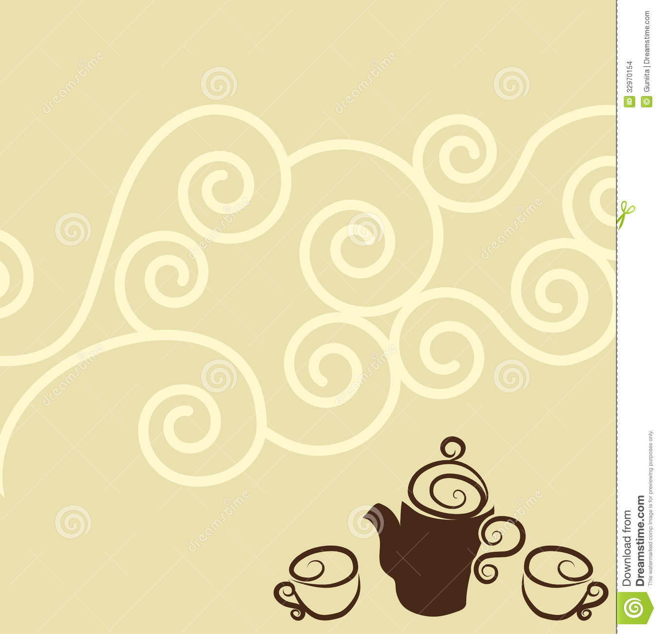 Coffee Wallpaper Design Stock Images