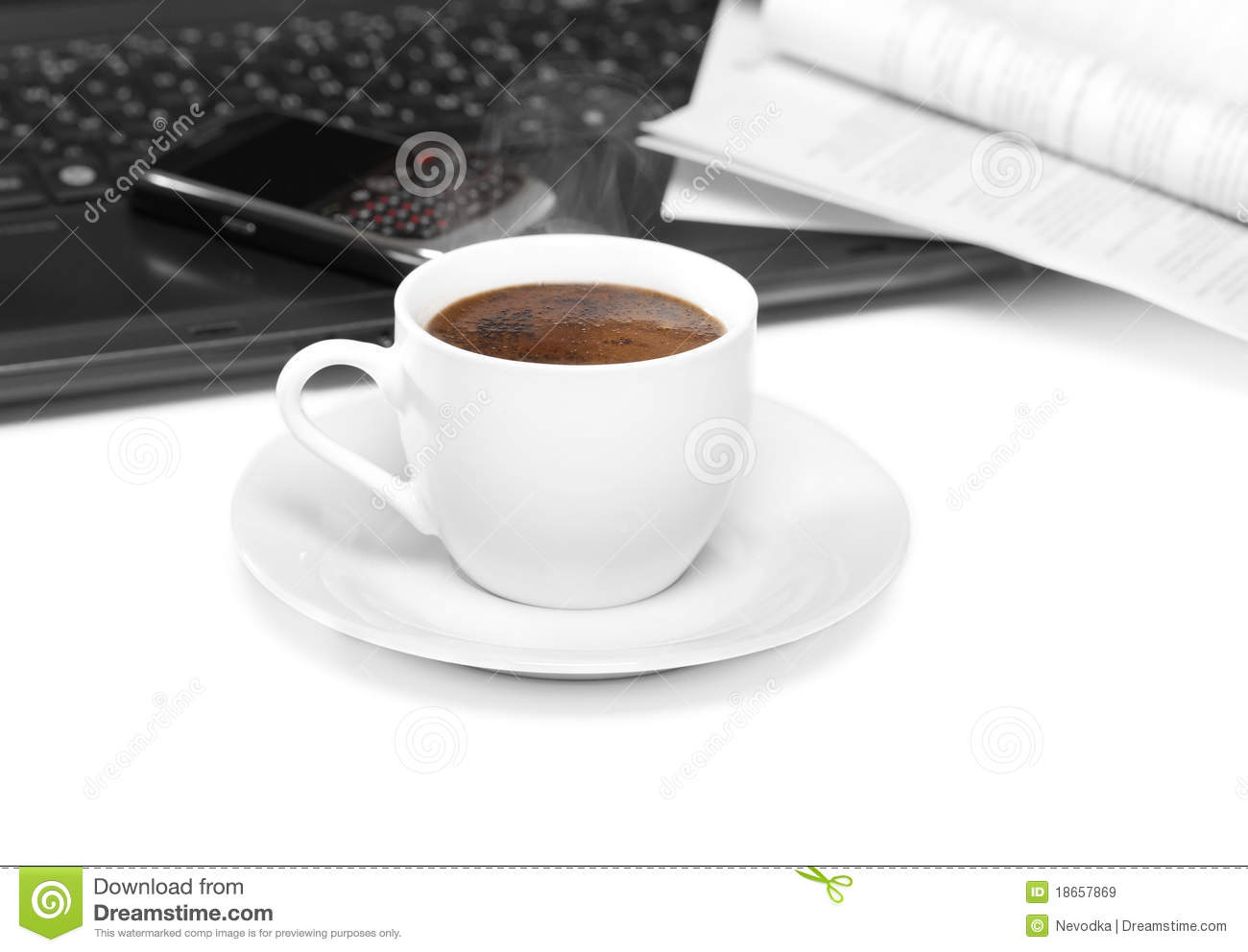 Coffee At Work ~ Coffee at work royalty free stock images image