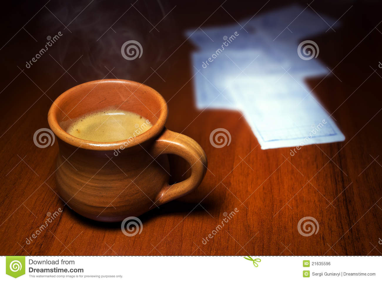 Coffee At Work ~ Coffee at work royalty free stock image