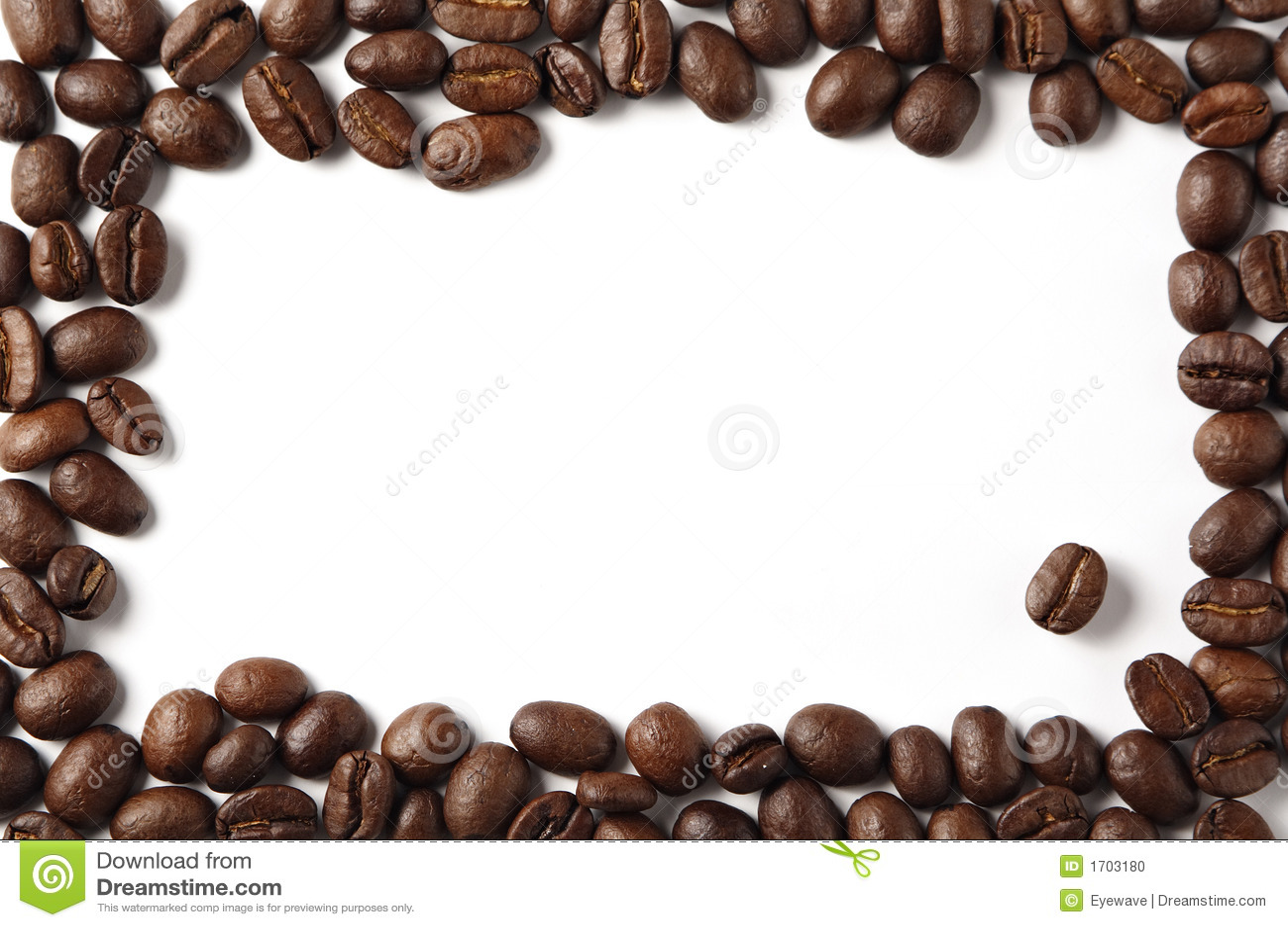 Coffee Bean Border ~ Coffeebean border stock photo image of tasty space take