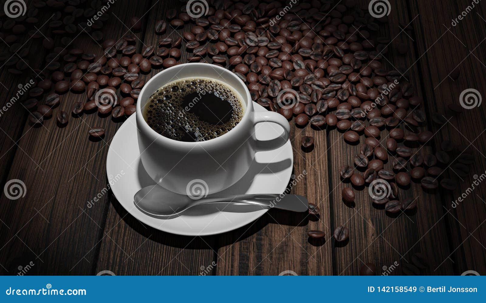 Coffeebeans de whith de Coffeecup