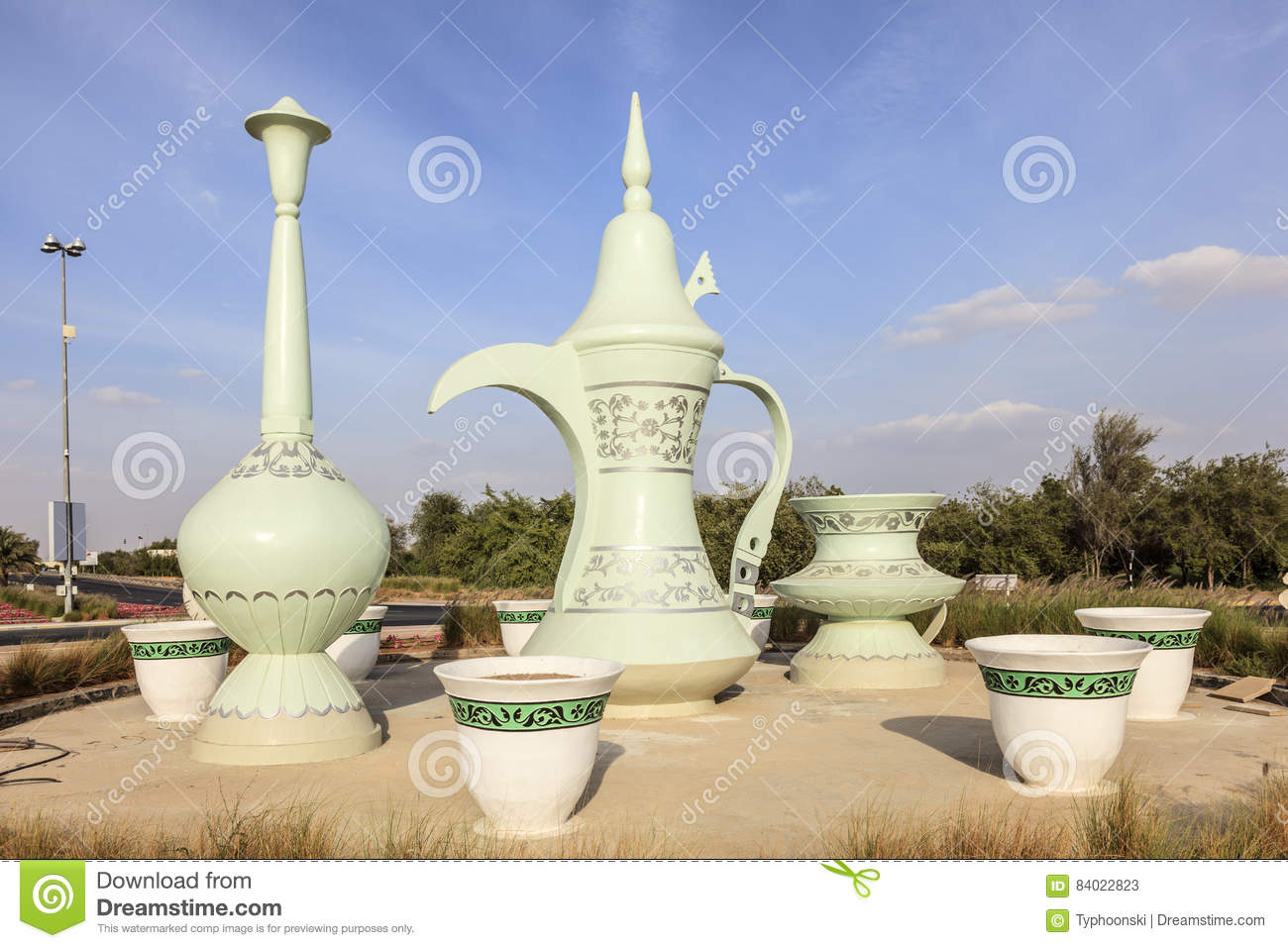 Coffeepot roundabout in al ain uae stock image image for Diwan roundabout al ain