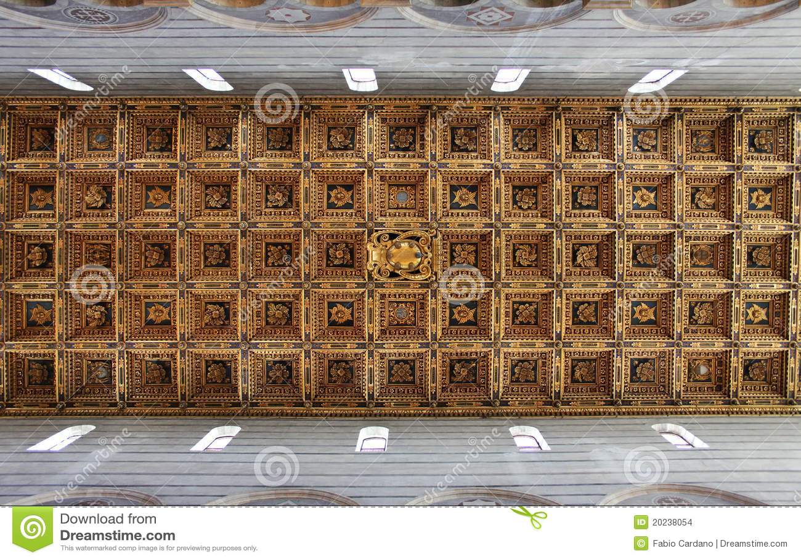 Coffered ceiling stock photo. Image of indoor, pisa, craft ...