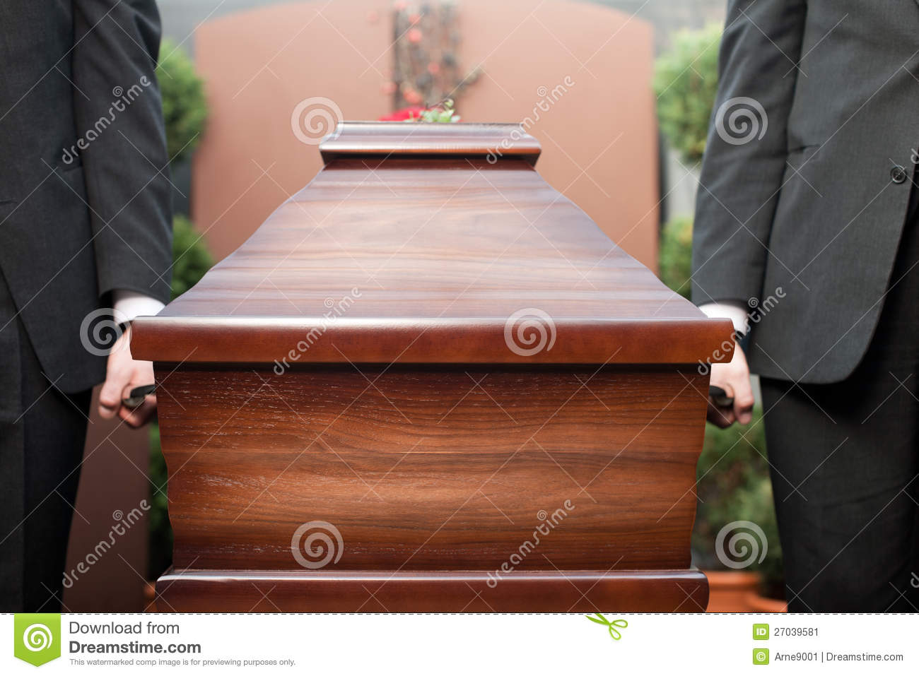 Coffin Bearer Carrying Casket At Funeral Stock Image Image Of
