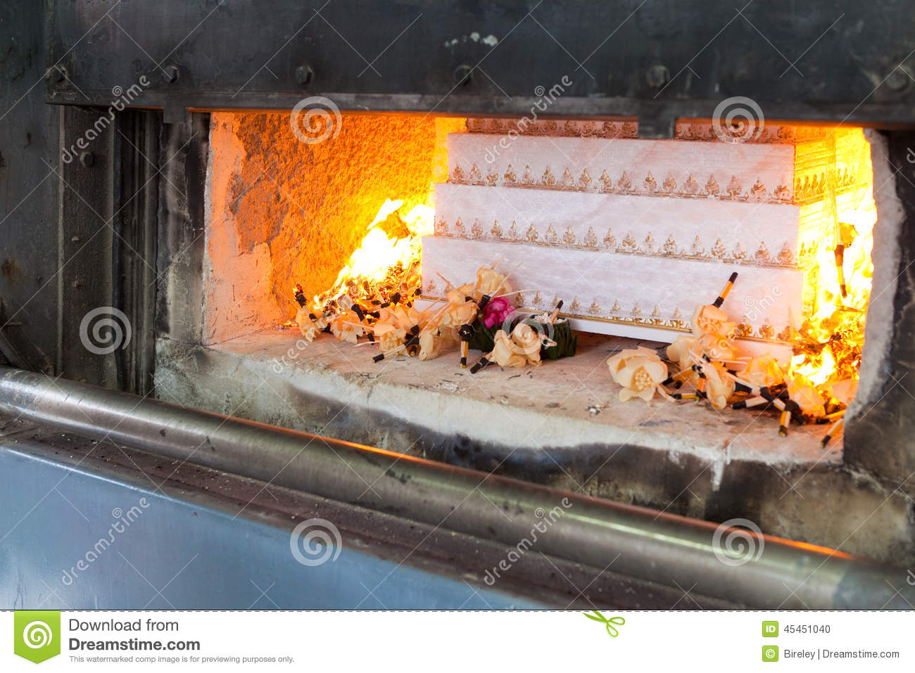 Coffin In Cremation Stock Photo - Image: 45451040