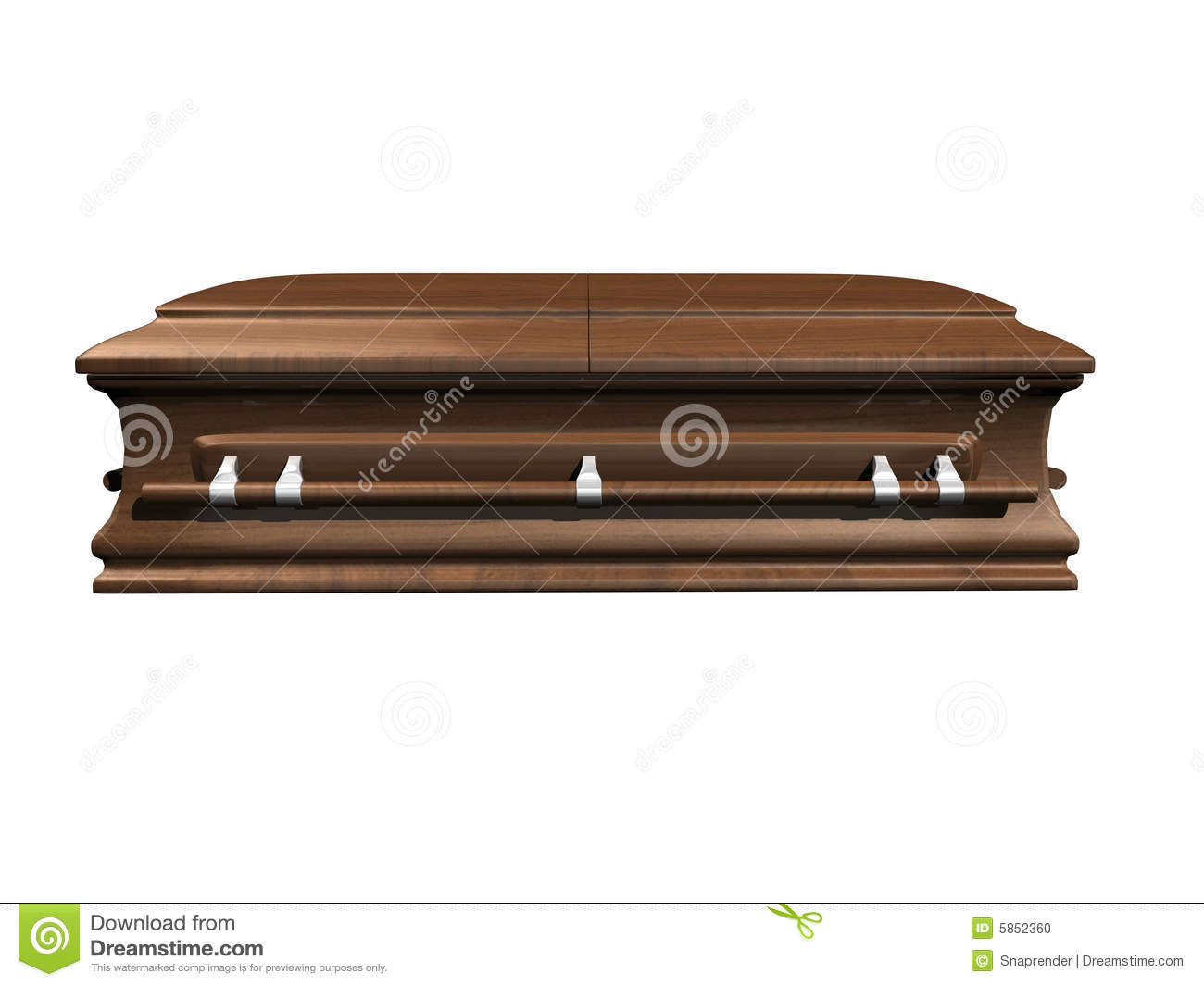 how to draw a coffin side view