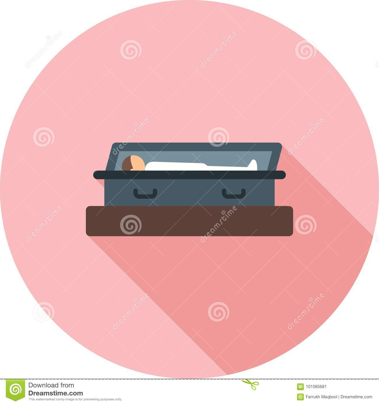 Open Casket stock vector  Illustration of tomb, concept