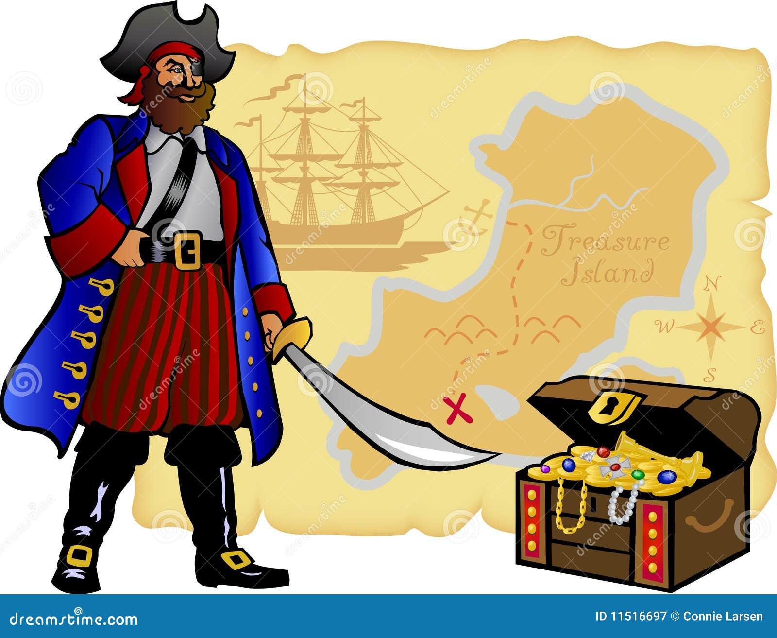 Coffre de pirate de carte et de tr sor env illustration - Dessin de coffre de pirate ...