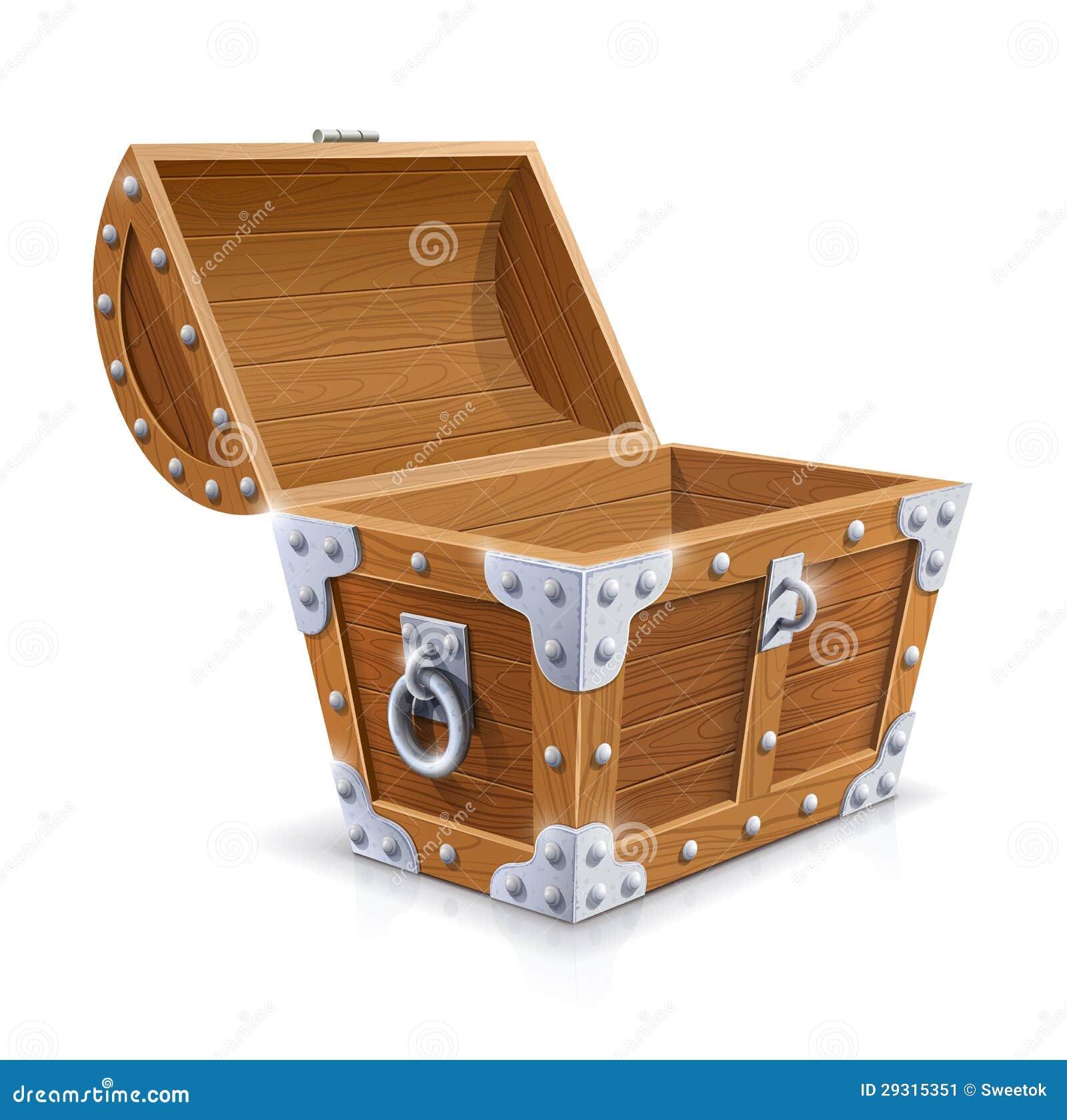coffre en bois de cru avec le couvercle ouvert illustration de vecteur illustration du. Black Bedroom Furniture Sets. Home Design Ideas