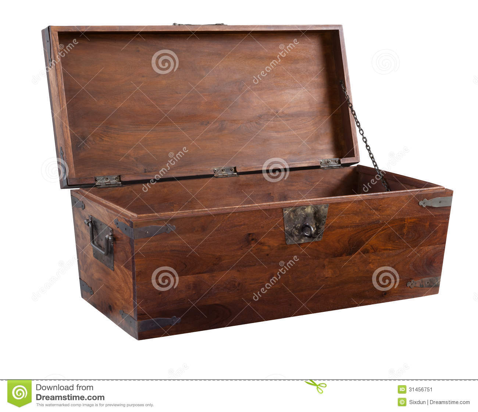 Coffre en bois ouvert image stock image 31456751 - Coffre en bois a vendre ...