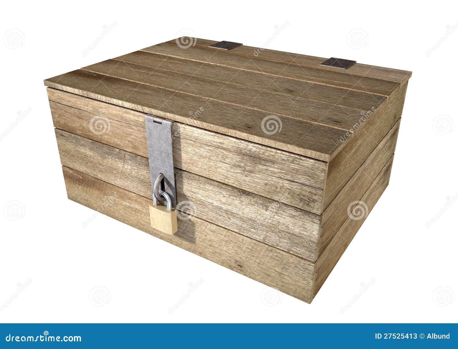 coffre en bois verrouill photos stock image 27525413. Black Bedroom Furniture Sets. Home Design Ideas