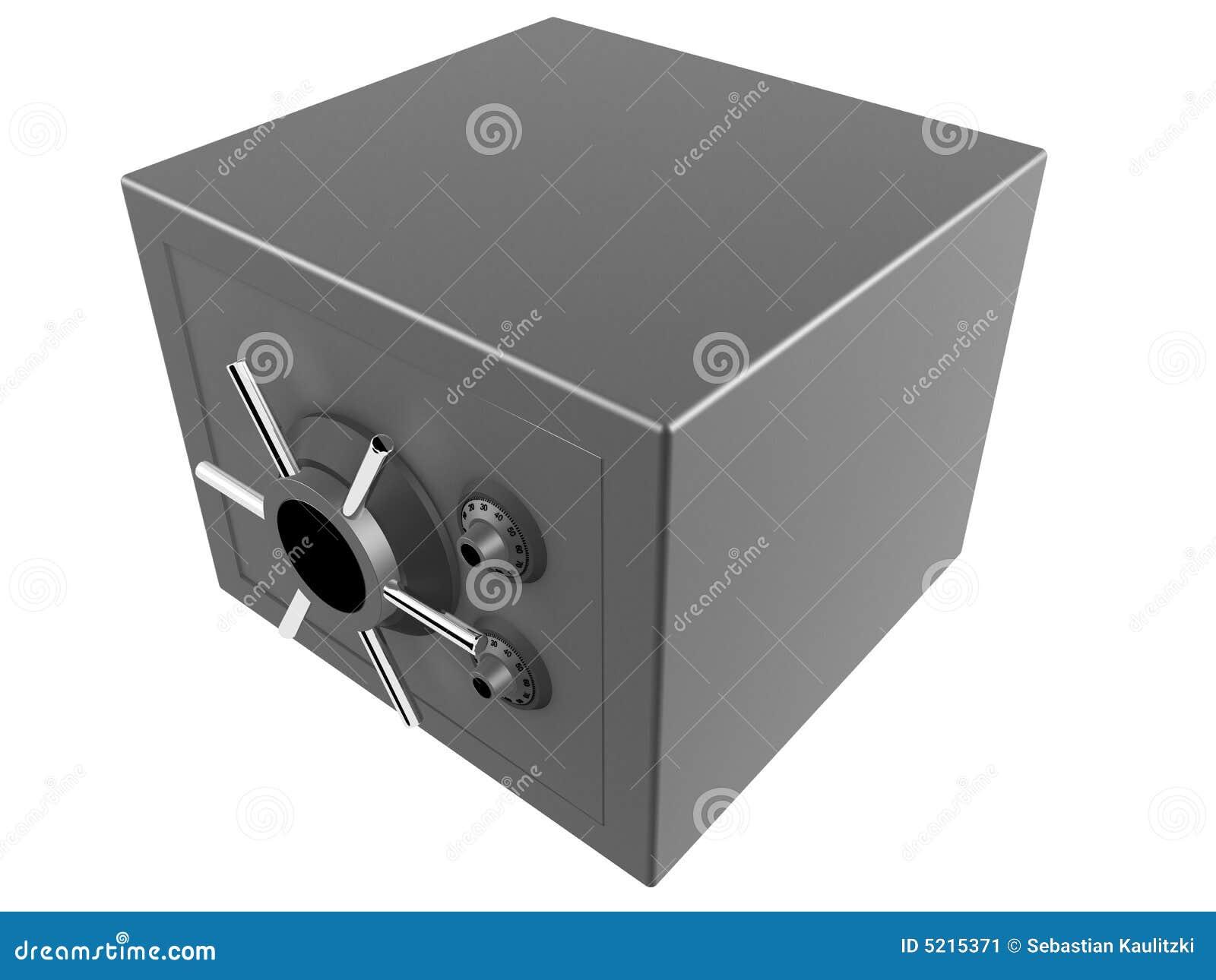 Coffre fort 3d image stock image 5215371 for Prix d un coffre fort