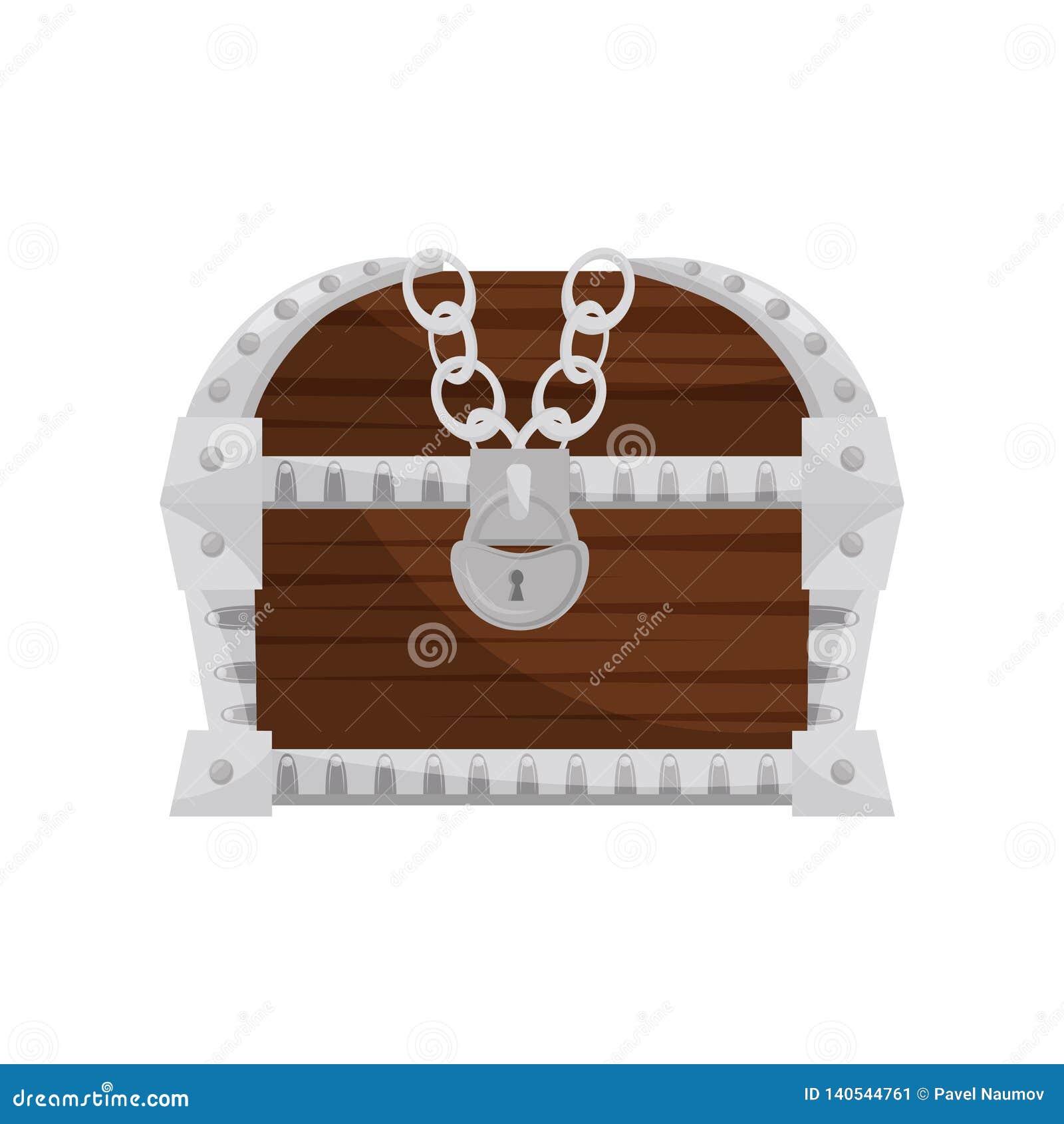 à bas prix e3b46 e18f3 Coffre Fort D'en Bois-métal Avec Le Vieux Cadenas Boîte De ...