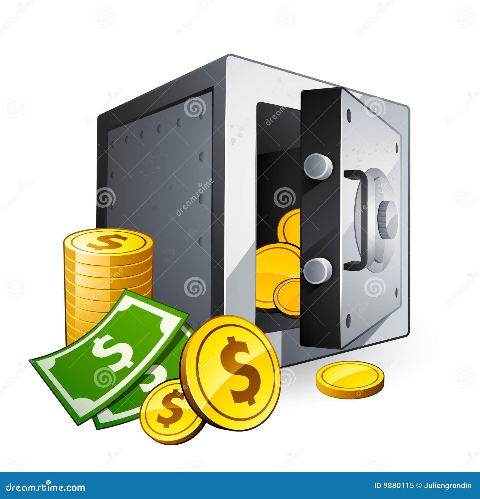 Coffre-fort et argent